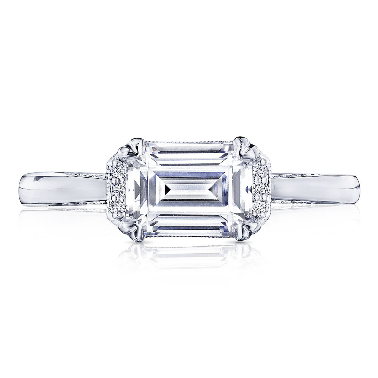 Emerald Cut Diamond Engagement Rings By Tacori