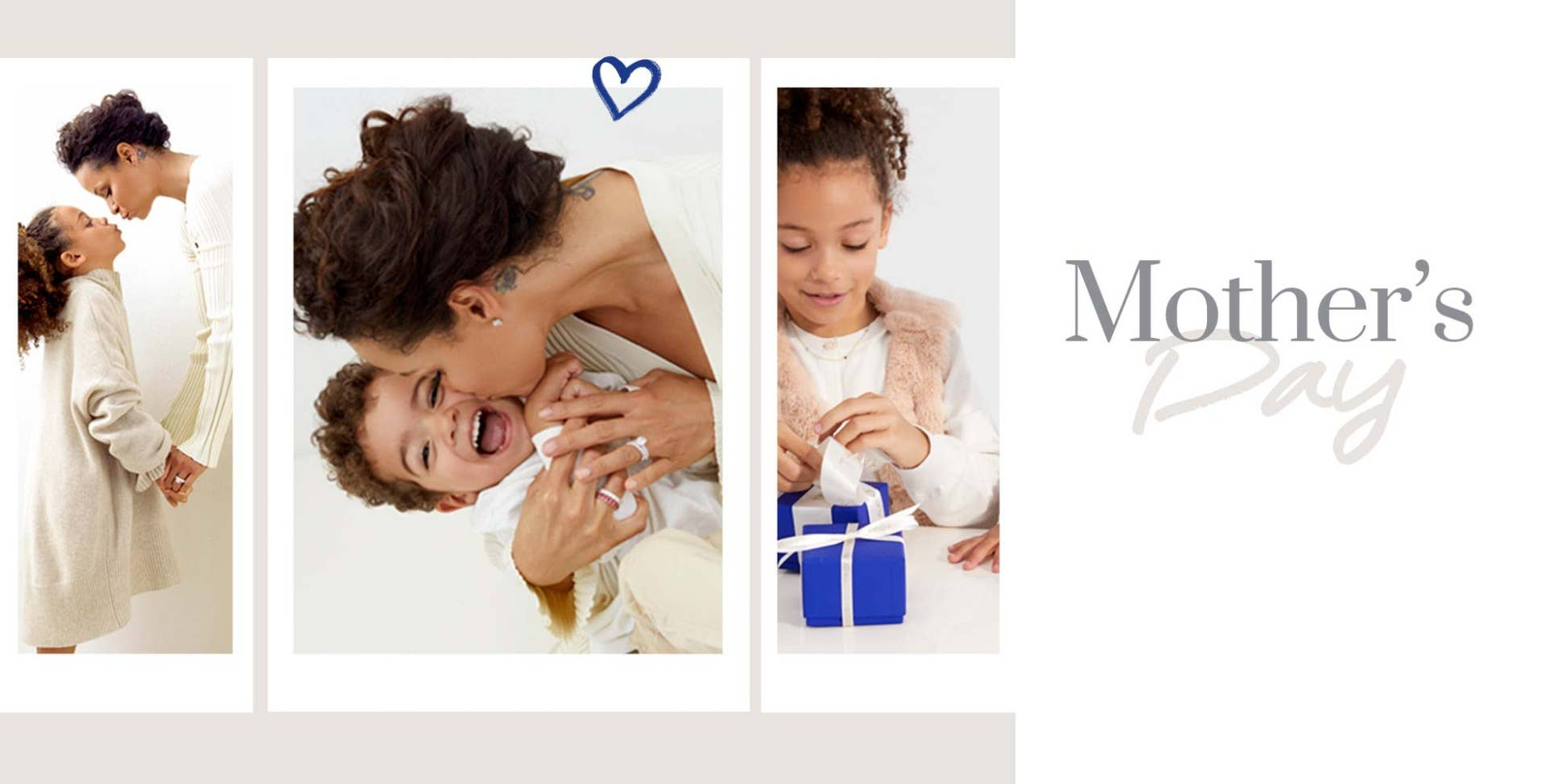 Tacori Mother and children holding hands, opening Tacori Blue Box