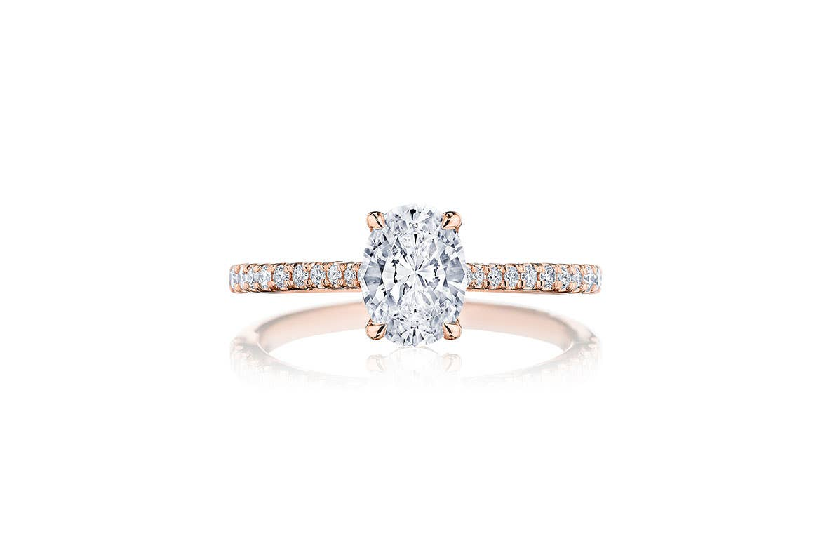 Simply Tacori engagement ring from Tacori on white background