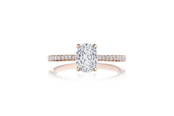Simply Tacori engagement ring from Tacori with oval diamond