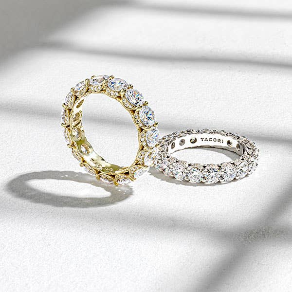 Pair of Tacori eternity wedding bands