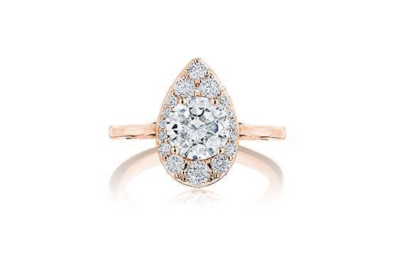 Inflori diamond bloom engagement ring by Tacori on white background