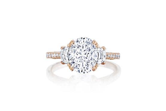 Tacori RoyalT engagement ring on white background