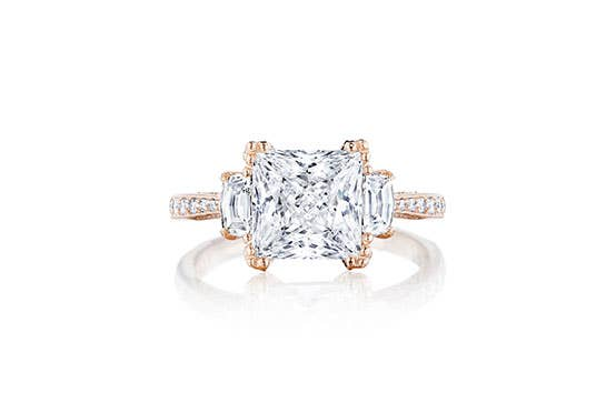 RoyalT engagement ring by Tacori on white background