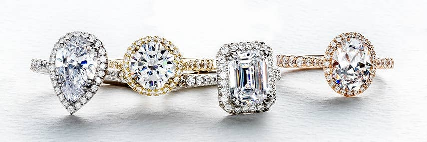 4 of Tacori Bloom engagement rings